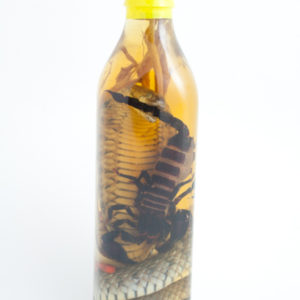 GENUINE SCORPION WINE BOTTLE VIETNAMESE LIQUOR WITH REAL SNAKE AND SCORPION